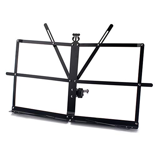 Purchase DishyKooker Desktop Music Stand Short Foot Foldable Tabletop Metal Sheet for Guitar Piano V...
