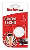 Fischer 548839 gancho adhesivo para techos y paredes, Blanco