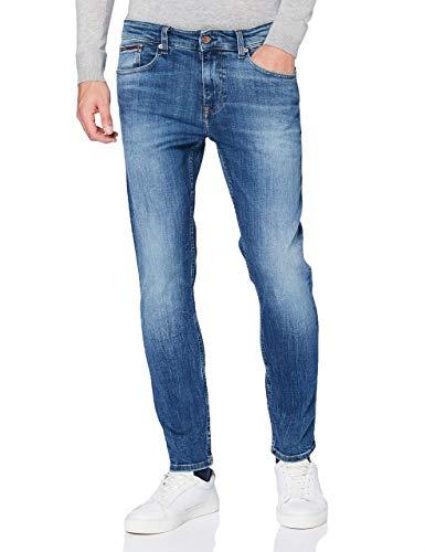 Tommy Jeans Hombre AUSTIN SLIM DYCMBS Pantalones, Dynamic Chester Mid Blue Str, W27 / L34
