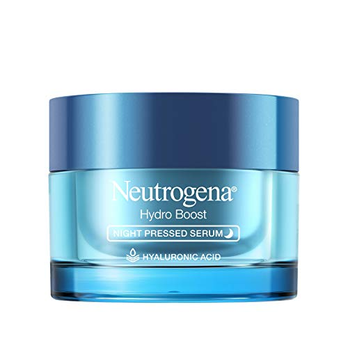 Neutrogena Hydro Boost Purified Hyaluronic Acid Pressed Night Serum, Facial Serum with Antioxidants & Hyaluronic Acid for Dry Skin, Oil-Free & Non-Comedogenic, 1.7 oz