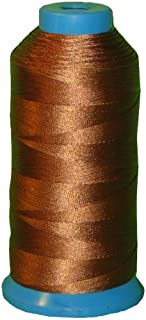 Item4ever Brown Bonded Nylon Sewing Thread #69 T70 1500 Yard for Outdoor, Leather, Upholstery