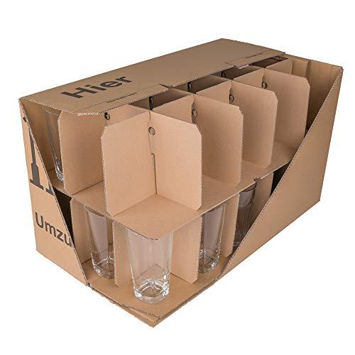 150 Gläserkartons mit 30/15 Fächern Flaschenkartons für Umzug Verpackung Umzugskartons - 2