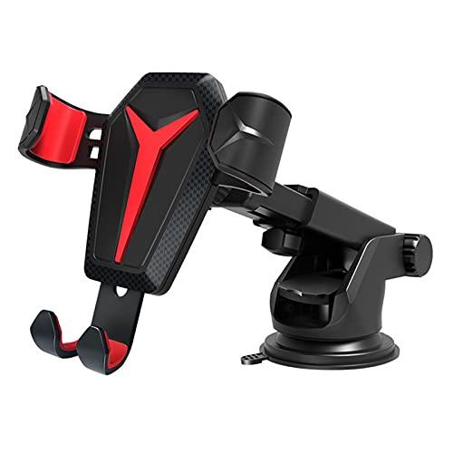 ASDFGHJKL Soporte para Teléfono Móvil para Automóvil, Soporte para Teléfono Móvil con Ventosa Giratoria para Mesa De Trabajo, Navegación Práctica para Automóvil,Rojo,Air Outlet Type