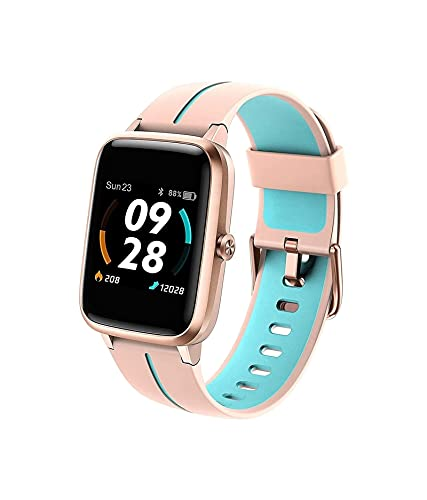 Orologio intelligente, GPS integrato con frequenza cardiaca di tutto il giorno e monitoraggio del sonno del monitoraggio dell'attività, orologio da fitness touch screen completo, 14 modalità sportivi