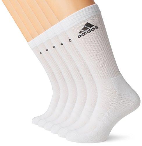 adidas 6 Paar Performance CUSHIONED CREW 3p Tennissocken Sportspocken Unisex, Farbe:White, Socken & Strümpfe:40-42