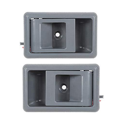 AUTEX 2pcs Gray Interior Door Handle Front/Rear Left Right