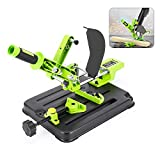 Upgraded Angle Grinder Stand Universal Fixed Grinder Holder Sliding Handle Bracket Adjustable 45 Degree Clamp with Protective Cover