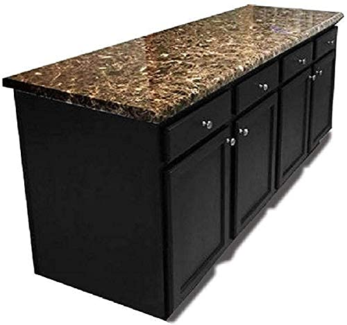 """EZ FAUX DECOR Self Adhesive Dark Emperador Brown Marble Granite Peel and Stick Instant Countertop Update 36"""" x 144"""" Roll Removable Thick Waterproof Vinyl Laminate Film Not Paint"""