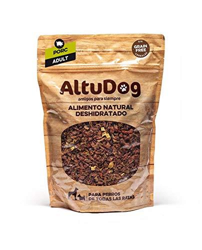ALTUDOG Alimento Natural deshidratado para Perros Adultos Cerdo SIN Cereales 1Kg - Comida Natural para Perros (10x1Kg)