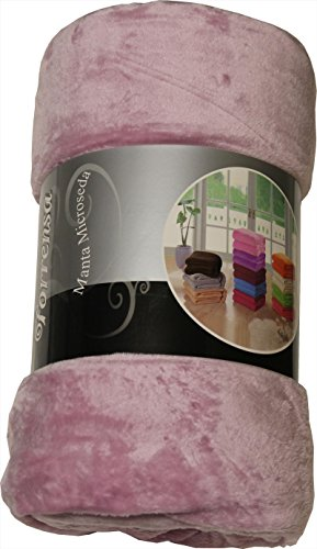 ForenTex - Manta de sedalina, (LI-220 Rosa Chicle), Ultra Suave, microseda, para abrigarte con Estilo y Confort, 220 x 240 cm, 1,5 kg. No Suelta Pelo. para sofá y Cama.