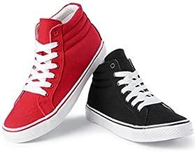 Urban Groove Hip-Hop Dance Sneaker High-Top Canvas Black 8AM