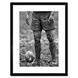 DT Ball Rugby MUD Bowl Print Frame Wooden Framed Picture Poster Art Mount F12X287