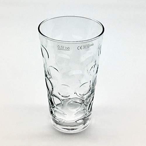 Original Pfälzer Dubbeglas für Schorle 0,5 Liter (1 Stück) - Pfalz Schoppenglas Weinglas Weißweinglas Schorleglas Saftglas