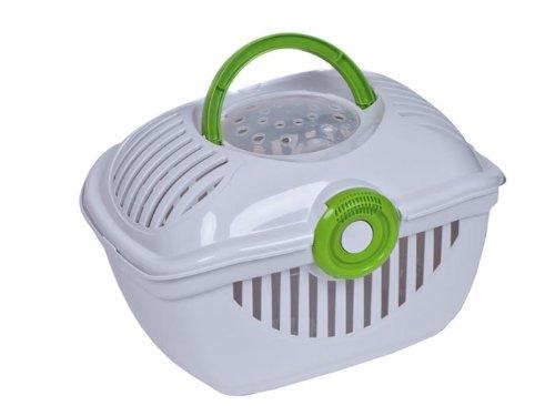 adena Toprunner T700 Weiss - Transportbox für Hunde, Katzen und Kleintiere - Design grün