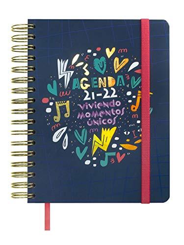 Finocam 626500722 - Agenda Vitae 16 meses 2021 2022 4º - 155x220 Semana Vista Apaisada Azul Español