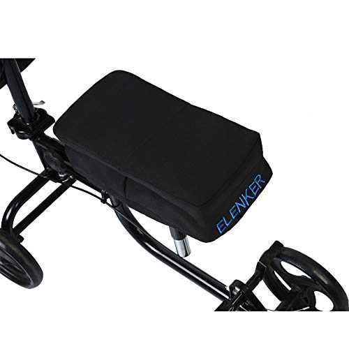 ELENKER Knee Walker Pad Cover with Detachable 1inch Memory Foam for Cover Knee Scooter Cushion Improves Comfort