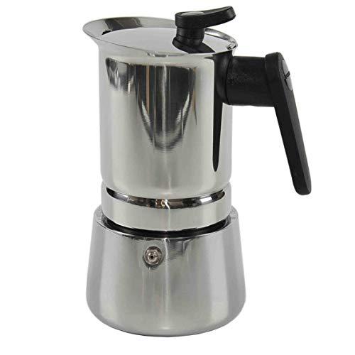 Pedrini Espressokocher aus Edelstahl für Induktion, 6 Tassen