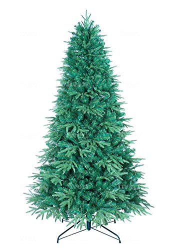 GOLDSTAR 9 ft Premium Spruce Hinged Artificial Holiday Christmas Tree for Home, Office, Party Decoration– Beautiful Crafted PE & PVC Artificial Christmas Tree Unlit with Metal Stand– Easy Assembly
