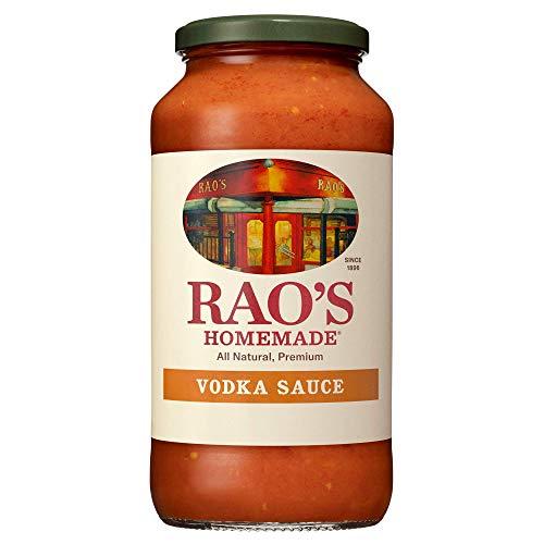 Rao's Homemade Vodka Sauce | 24 oz | Creamy Tomato Sauce | Pasta Sauce | Carb Conscious, Keto Friendly | All Natural, Premium Quality | With Parmigiano Reggiano and Pecorino Romano Cheeses & Vodka