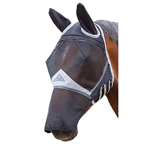 Shires Fine Mesh Fly Mask with Ears and Nose Small Pony Black