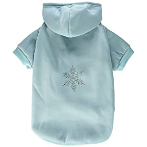 Mirage Pet Products 20-Inch Snowflake Hoodies, 3X-Large, Baby Blue