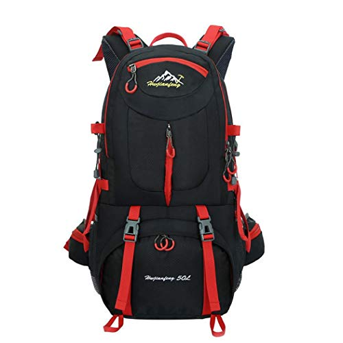 Caldo 登山バックパック旅行バッグ 登山リュックサック アウトドア バックパック大容量 男女兼用バッグ ハイキングバッグ 登山リュック背中通気 収納性抜群 登山ザック 防水 超軽量 長期旅行 通学 (ブラック,60L)
