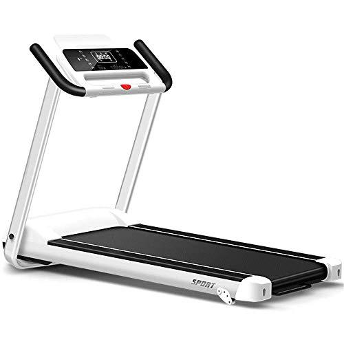 LY88 Fitness Multifunctionele Opvouwbare Thuis Treadmill Huishoudelijke Ultra-rustige Vouwen Binnen Kleine Smart Platte Loopband Fitness Equipment (Kleur: Wit, Maat : 153x69x124cm)