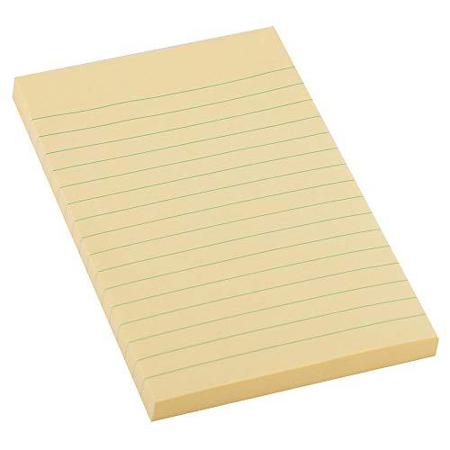 D.RECT Haftnotizen Linierte Sticky Notes Klebezettel und Haftnotizzettel Selbstklebende Notizzettel für Büro 98x150mm 100 Blatt
