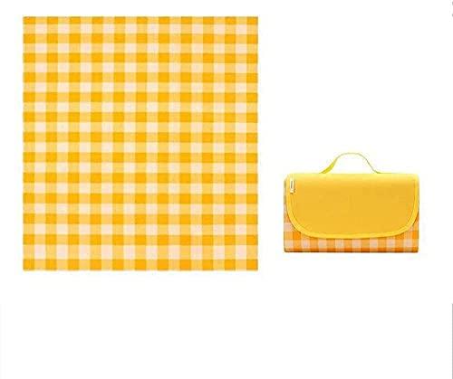 ZRDSZWZ Manta de picnic fiable para exteriores, almacenamiento al aire libre, playa, picnic, viaje, color rojo a_200 x 200 cm, manta de picnic plegable (color: caqui) (color: amarillo)