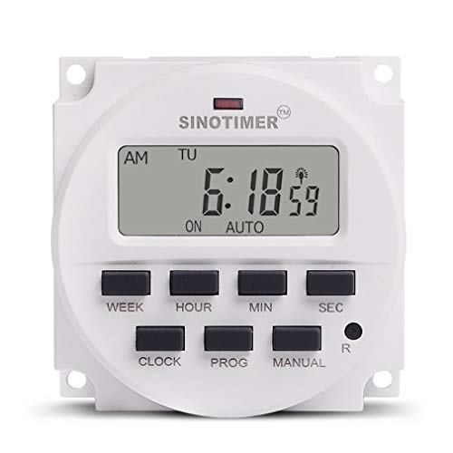 Leoboone SINOTIMER 12V Weekly 7 Days Programmable Digital Time Switch Relay Timer Control for Electric Appliance 8 ON/OFF Setting