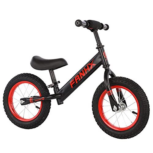 Vélo D'éQuilibre - Bicicleta de entrenamiento para niños de 18 meses y 2 a 5 años para bicicletas de empuje, sin pedar, con reposapiés, asiento regulable, altura del manillar