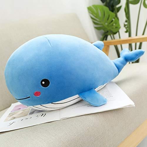 Suave ballena de peluche de juguete de dibujos animados Animal pez muñeco de peluche bebé almohada para dormir cojín chico novia regalo de Navidad 35Cm
