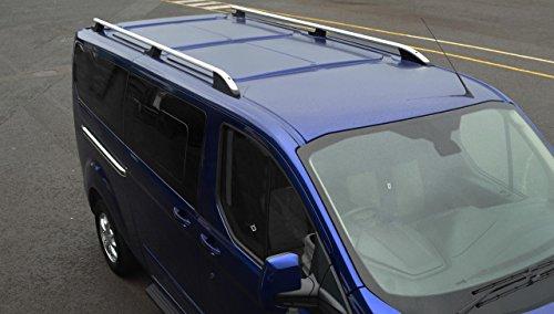 Barras de techo para L2H1 Transit Custom (2012+) aluminio plateado