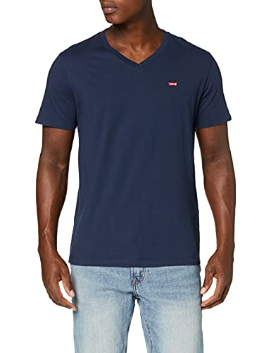 Levi's Orig Hm Vneck Camiseta, Blue (Dress Blues 0002), Large para Hombre