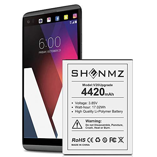 LG V20 Battery, SHENMZ 4420mAh 2021 New Replacement Battery for LG V20 BL-44E1F H910 H918 LS997 US996 VS995/V20 BL-44E1F Spare Battery
