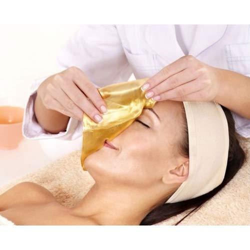 Masque Peel-Off Masque d'Alginate gelifiant en poudre 200 g professionnel et à la maison Masque Visage extracteur points noirs (Masque Fermeté Or)