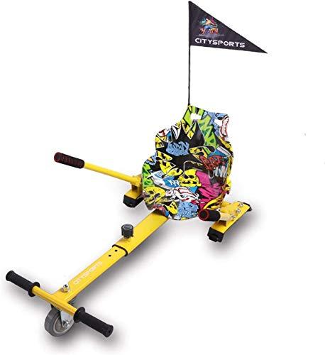 Hoverkart, Accesorio de Scooter autoequilibrado, Go Kart Compatible con Todos los hoverboards, Longitud Ajustable, Regalo para niños