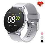 "7. moreFit 1.3"" Round Smart Watch with Heart Rate Blood Pressure Monitor, Fitness Tracker Watch Activity Tracker for Men, Waterproof Fitness Watch Sleep Monitor Step Counter Sport Watches for Women"
