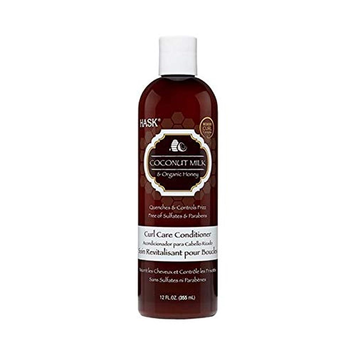 ワーディアンケース製油所メロディー[Hask] Haskcoconutミルク&ハニーカールケアコンディショナー355ミリリットル - HASKCoconut Milk & Honey Curl Care Conditioner 355ml [並行輸入品]