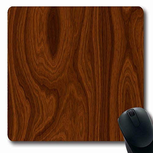 Jamron Mousepad OblongBrown Mahagoni Holzmuster Holz Log Natur Redwood Tisch Dark Board Balk Baulk Lurid Kontinuierliche rutschfeste Gummi Mauspad Büro Computer Laptop Spiele Mat.-Nr.