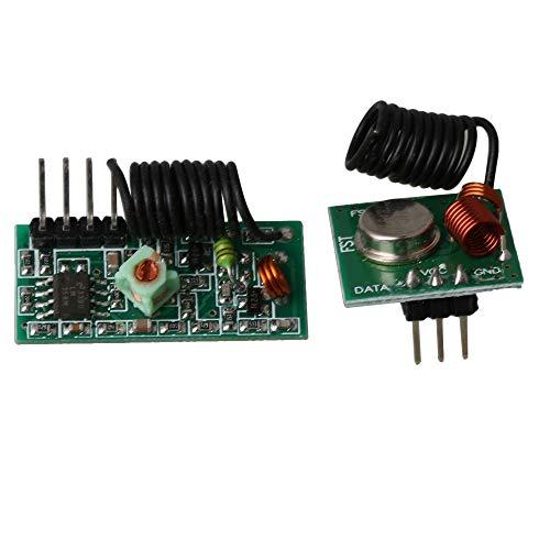 BQLZR 1 Set 433Mhz RF Wireless Transmitter und Empfängermodul Grün PCB