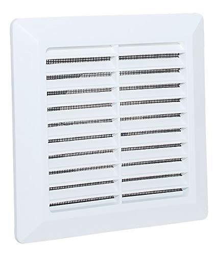 Lüftungsgitter Abschlussgitter Insektenschutz ABS-Kunststoff Gitter. (Anschluss Ø100mm, Weiß)
