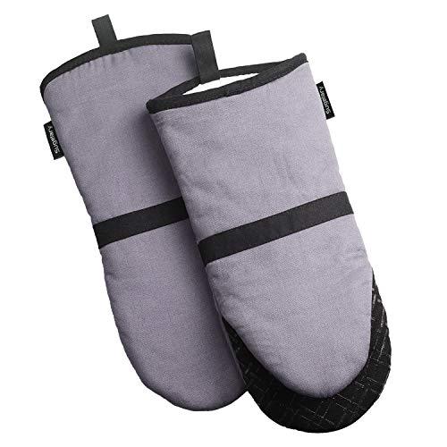 Ofenhandschuhe, Hitzebeständige Grillhandschuhe BBQ Handschuhe - Backofen Handschuhe, Hitzebeständige Topfhandschuhe,Küche Topfhandschuhe mit Silikon Anti-Rutsch