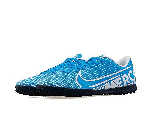 Nike Mercurial Vapor 13 Club Tf, Scarpe da Calcio Uomo, Multicolore (Blue Hero/White/Obsidian 414), 42 EU