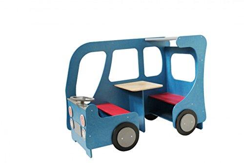 Spielecke Bus / Farbe: blau / Material: Holz / Maße: 150 x 78 x 110 cm, Sitzhöhe: 34 cm / Made in Germany