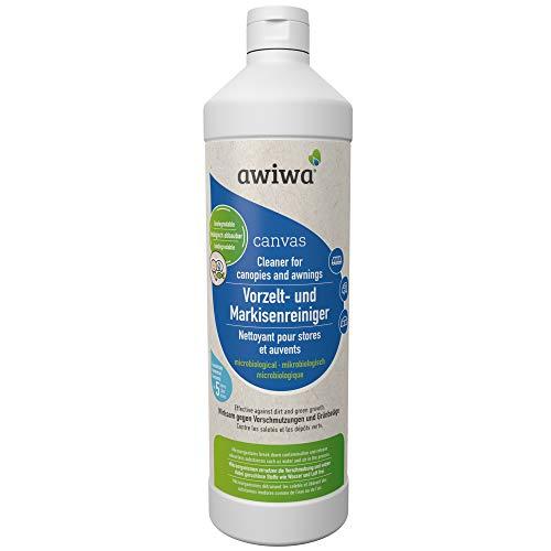 Limpiador de toldos y toldos awiwa para toldos, tiendas de campaña, toldos, etc. 1 litro de limpiador concentrado (1 litro)