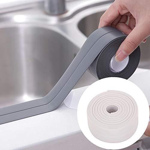 林耐久性のあるPVC素材防水カビ証明粘着テープキッチン浴室の壁のシールテープ、幅:2.2センチメートルのx 3.2メートル(ホワイト) WXW (Color : White)