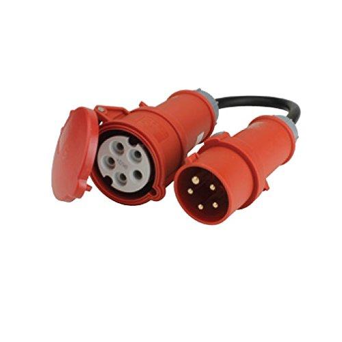 UNITEC 47460 Adapterleitung, 16/32A 0.5 m Kabel, H07RN-F5G2.5qmm