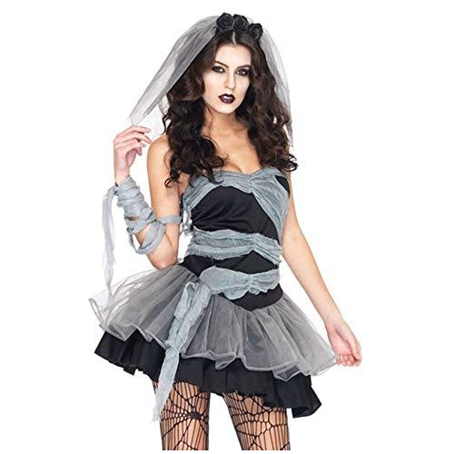 El Cadver Femenino Sexy Est Enterrado Novia Vestido De Cosplay Traje Ejecutivo Decoracin De Halloween Disfraz De Halloween Y Fiesta Elegante, Disfraz De Zombie De Halloween