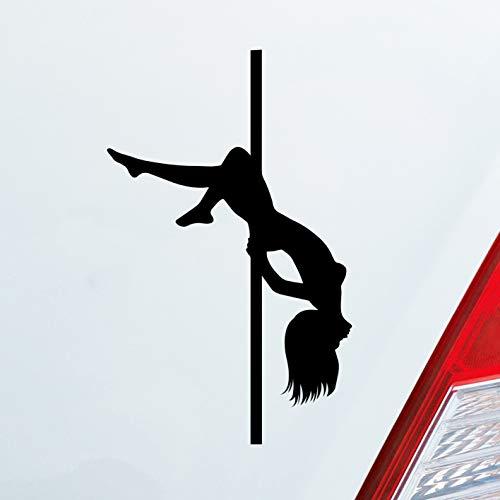 Hellweg Druckerei Sexy Girl Mädchen Tanzen Poledance Strip GoGo Pin Up Auto Aufkleber Sticker Heckscheibenaufkleber